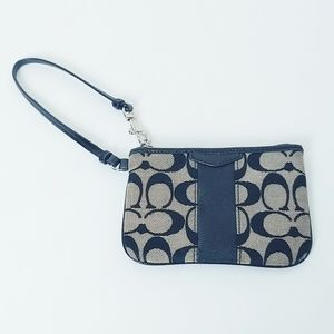 Coach Signature Black/Tan Wristlet